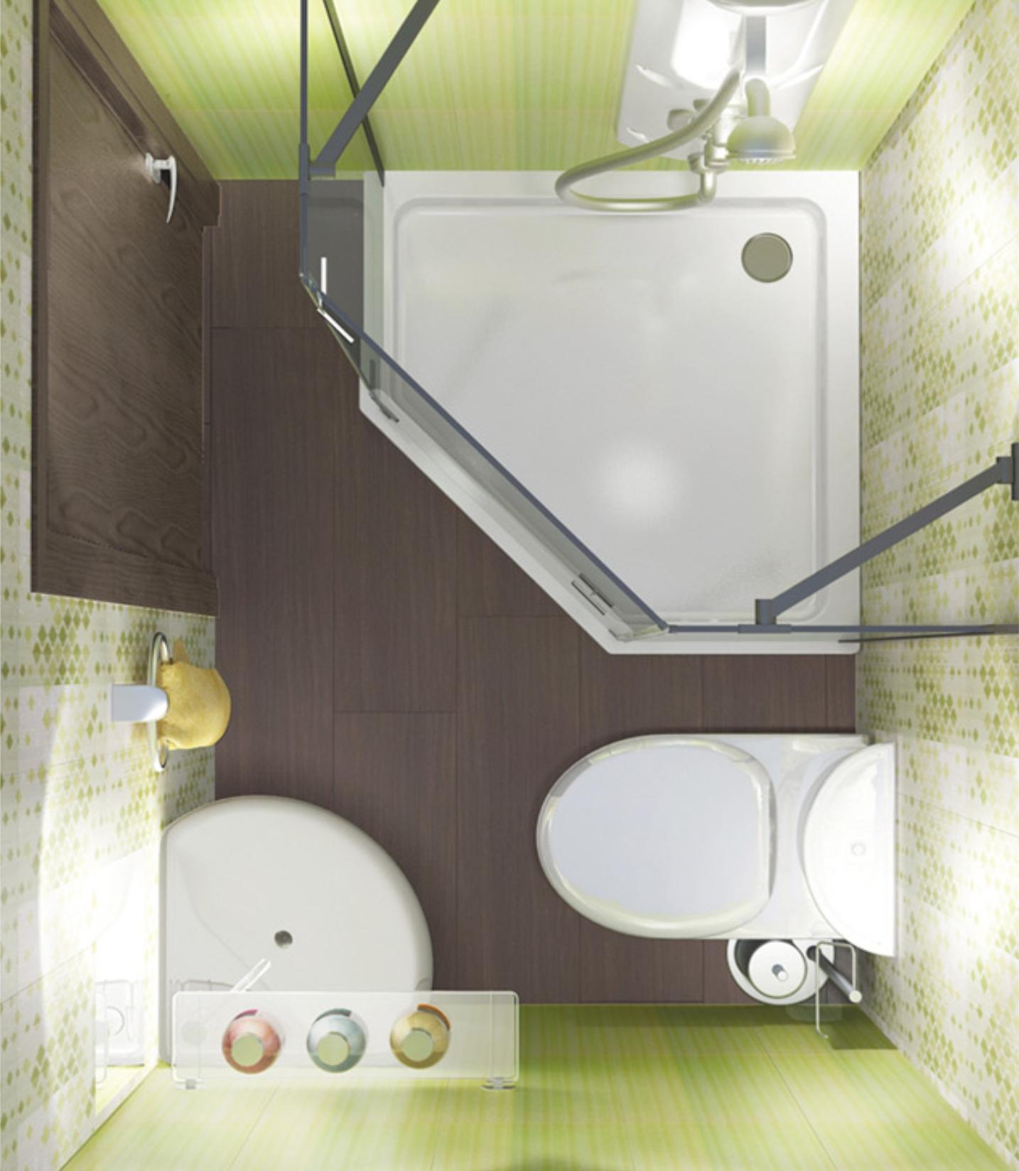 Маленькая ванная комната 4 кв метра дизайн с ванной с унитазом